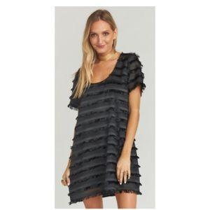 Show me your Mumu black fringe party dress 🎈